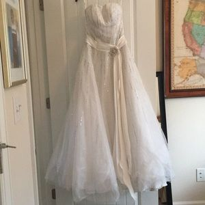 Tiffany Designs White Formal Gown